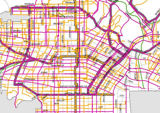 Click on the image for the full Bicycle-Enhanced Network.